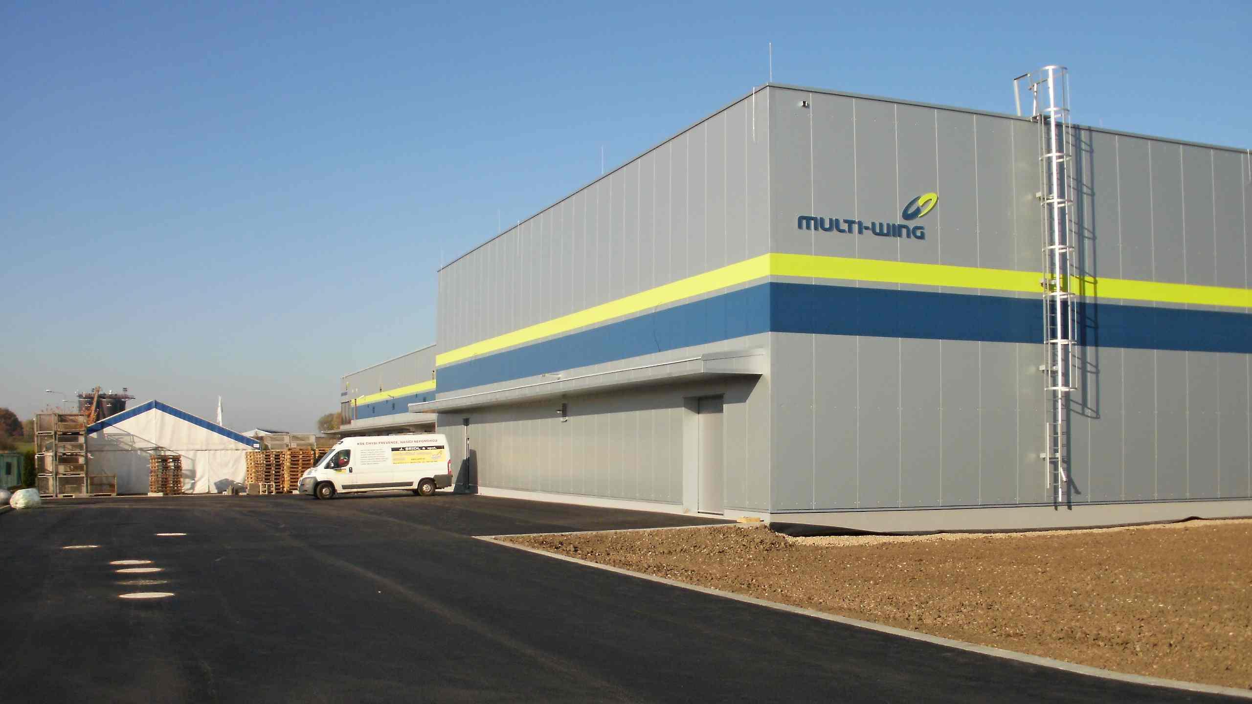 Přístavba skladovací haly - Nový Bydžov